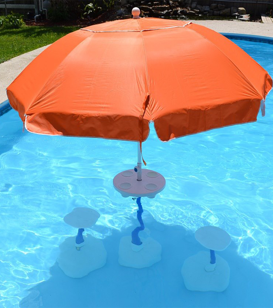 Relaxation Station Swimming Pool Umbrella Table Aughog