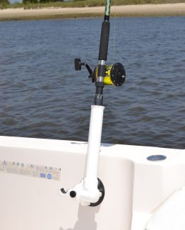 Paddle Saddle Versa Rod on Fishing Boat