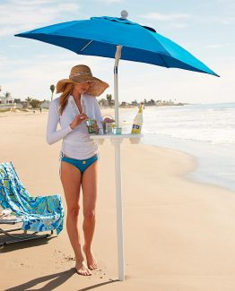 AugBrella XT white Sand Bar Umbrella Table